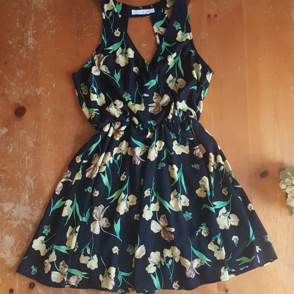 Lush Dresses & Skirts - Lush dress. Black with yellow flowers. Small